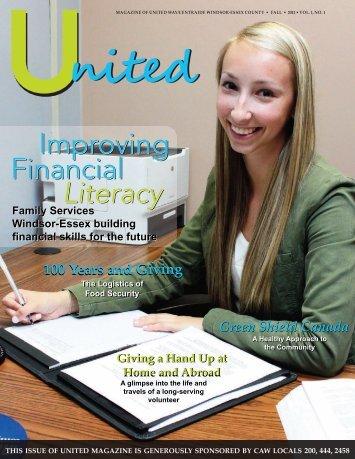 Improving Financial Literacy Financial Literacy - United Way ...