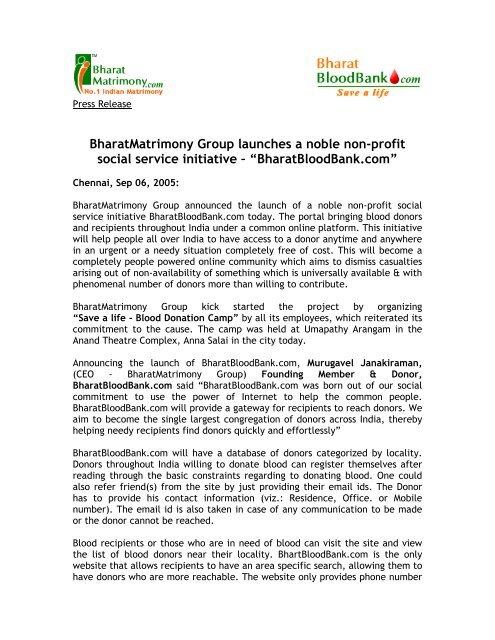 Bharatbloodbank com - Bharat Matrimony