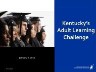 Kentucky's Adult Learning Challenge - Council on Postsecondary ...