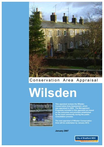 Conservation Area Appraisal - Bradford Metropolitan District Council