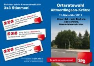 Ortsratswahl - SPD-Ortsverein Uetze