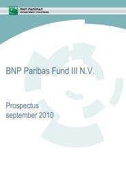 BNP Paribas Fund III N.V. - BNP Paribas Investment Partners