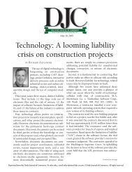 Technology: A looming liability crisis on ... - Stoel Rives LLP