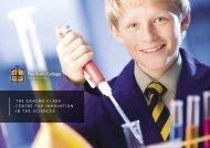 Graeme Clark Centre for Innovation in the Sciences brochure.