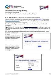Teil 2: Schüler/innen-Registrierung - CEBS
