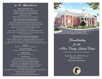 Allen County Judicial Center Groundbreaking - Kentucky Court of ...
