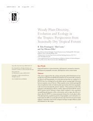 Perspectives from Seasonally Dry Tropical Forests - ICB