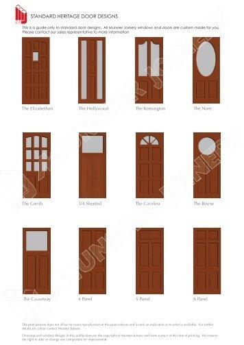 View Standard Heritage Door Designs - Munster Joinery