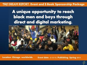 The Dream Report Sponsorship Package