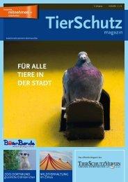 TierSchutzMagazin NR. 14 hier als PDF-Datei öffnen oder speichern.
