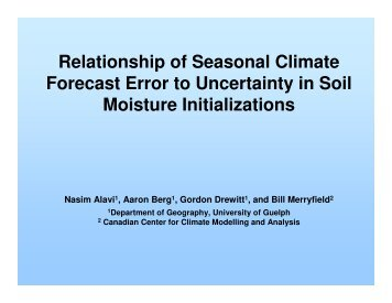 Relationship of Seasonal Climate Forecast Error to ... - GOAPP