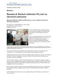 Bausum & Duckett celebrates 50 years as electrical contractor
