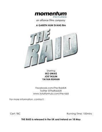 THE RAID production notes UK FINAL