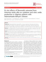 Ex vivo effects of flavonoīds extracted from Artemisia herba alba on ...