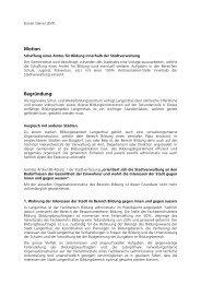 Schaffung eines Amtes für Bildung - Daniel Steiner-Brütsch