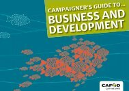 Campaigners Guide to Business and Development (3 MB) - Cafod