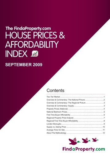 Findaproperty.com House Prices and Affordability Index September ...