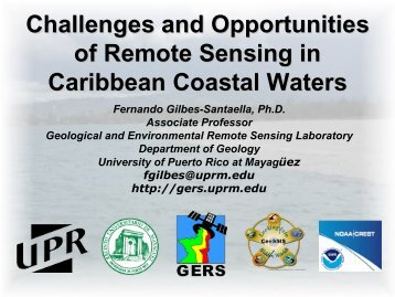 Challenges and Opportunities of Remote Sensing in ... - CIOSS