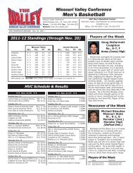 Weekly Release (PDF) - Missouri Valley Conference