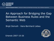 An Aproach To Bridging The GAP B... - RuleML-2007