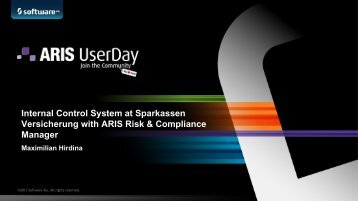 Internal Control System at Sparkassen Versicherung ... - Software AG