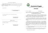 riconoscimento del diritto ai benefici della L. n - Provincia di Foggia