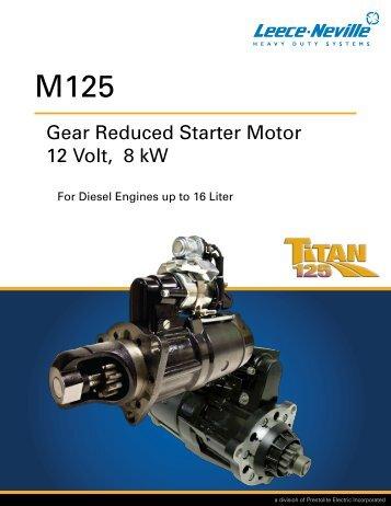 Gear Reduced Starter Motor 12 Volt, 8 kW - News - Prestolite ...