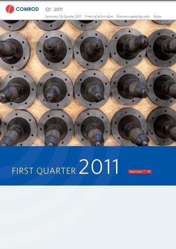 FirSt QuartEr 2011 Read more - Comrod