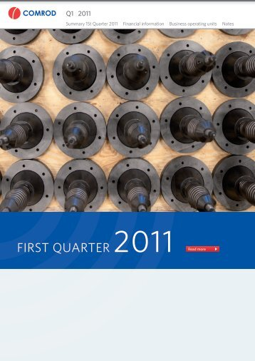 FirSt QuartEr 2011 Read more - Comrod