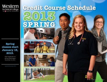 2013 Spring Credit Classes - Western Technical College