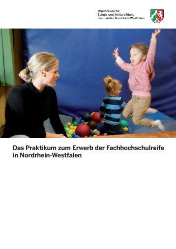 Fachhochschulreife in NRW. Hinweise zum Praktikum.