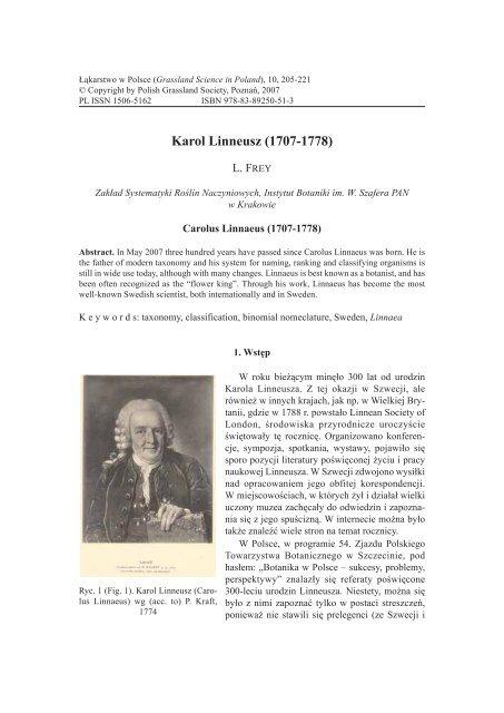 Karol Linneusz 1707 1778 Poznań