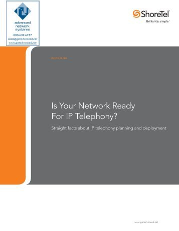 Is Your Network Ready For IP Telephony? - Advanced Network ...