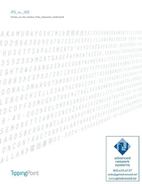 Intrusion Prevention vs  Detection - Advanced Network Systems