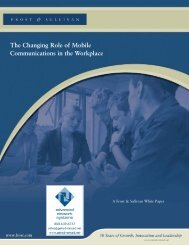 The Changing Role of Mobile Communications - Advanced Network ...