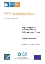 Irregular Migration from India to the EU: Evidence from the Punjab