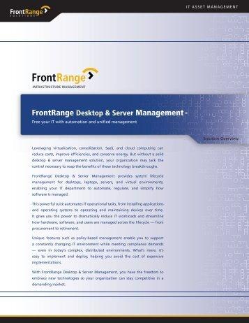 FrontRange Desktop & Server Management- - Overti