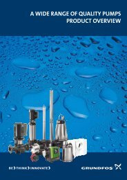 a wide range of quality pumps product overview - Grundfos