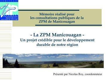 Consultation Zone de protection marine - Le Comité ZIP de la rive nord
