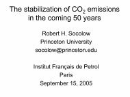 The stabilization of CO 2 emissions in the coming 50 years