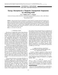 Energy Absorption by a Magnetic Nanoparticle ... - IngentaConnect