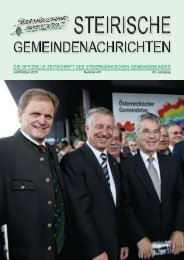 österreichischer gemeindetag 2010 - Steiermärkischer ...