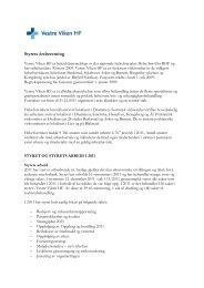 01 Styrets årsberetning for 2011 og årsregnskap ... - Vestre Viken HF