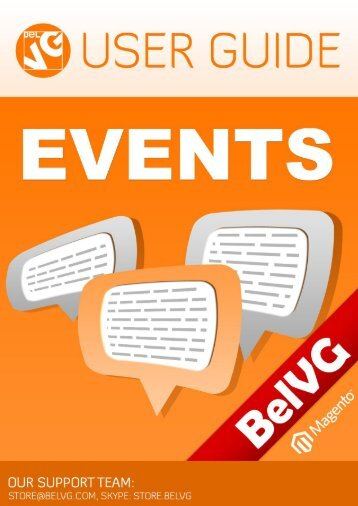 Events User Guide - BelVG Magento Extensions Store