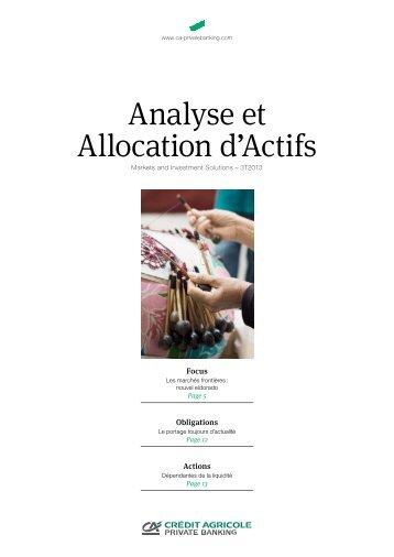 Analyse et Allocation d'Actifs - Crédit Agricole Suisse