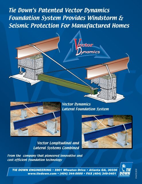 Tie Down's Patented Vector Dynamics Foundation System Provides ... on mobile home carriers, mobile home fittings, mobile home mirrors, mobile home parts, mobile home locks, mobile home wiring, mobile home electrical, mobile home upgrades, mobile home hold downs, mobile home anchors home depot, mobile home turnbuckles, mobile home covers, mobile home lights, mobile home filters, mobile home lifts, mobile home paint, mobile home stands, mobile home stickers, mobile home add ons, mobile home tools,