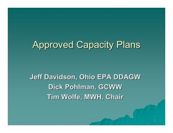 Approved Capacity Plans - Ohiowater.org