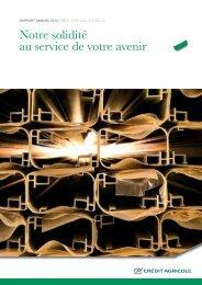CAS Rapport annuel 2010 - Crédit Agricole Suisse