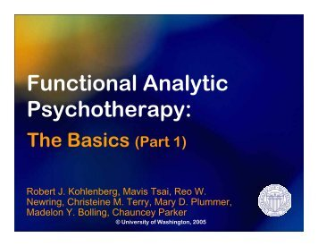 Rule #1 - Functional Analytic Psychotherapy | FAP