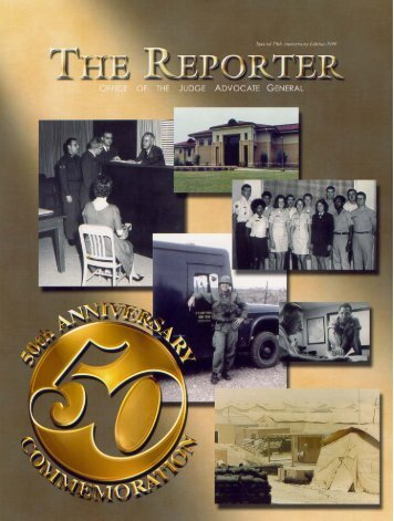The Reporter, 50th Anniversary Edition - Air Force Judge Advocate